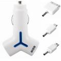 奥舒尔双USB三合一车载充电器 | iPhone iPad专用