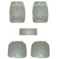 PVC通用透明汽车脚垫 | 5件套