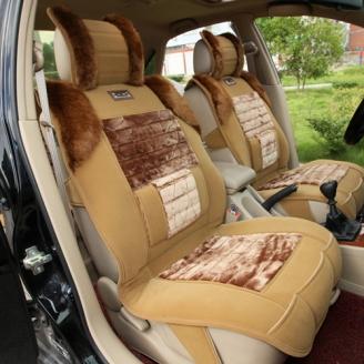 王者风范冬季毛绒汽车座垫 | 6件套